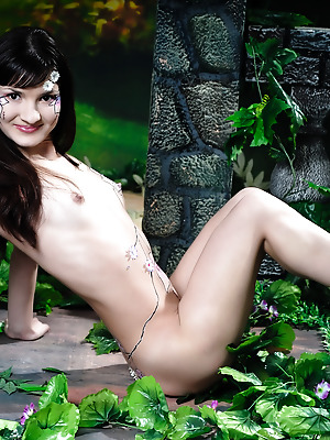 Amour Angels  Candy  Brunettes, Solo, Teens, Body art